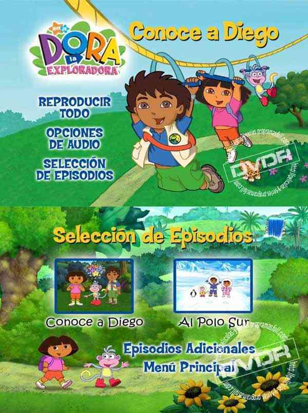 """""""Dora la Exploradora conoce a Diego cover dvd"""""""
