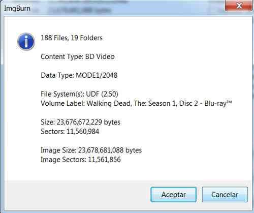 """Grabar BD25 con IMGBurn 7"""