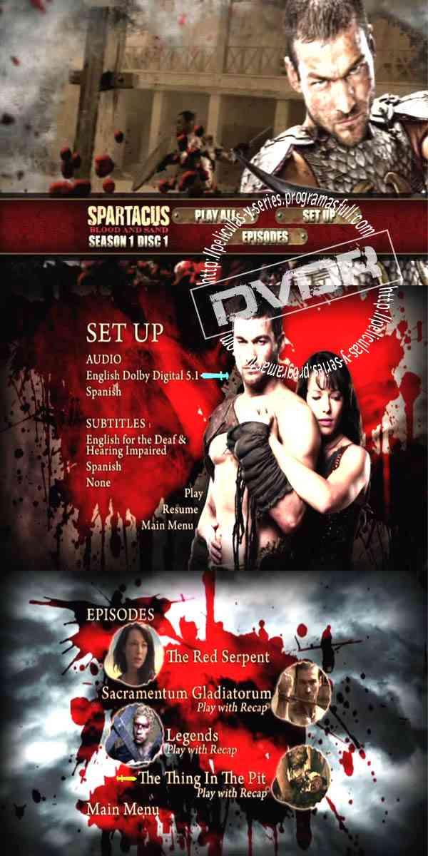 """Spartacus Season 1 DVD 1"""