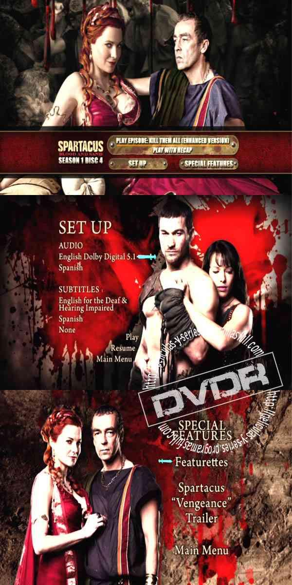 """Spartacus Season 1 DVD 4"""