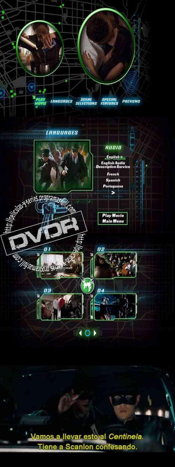 the green hornet descargar the green hornet dvd