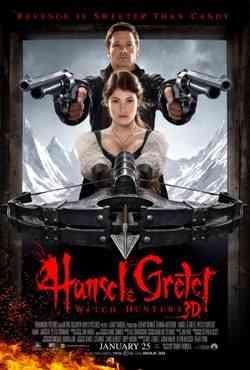 Hansel and Gretel cazadores de Brujas poster