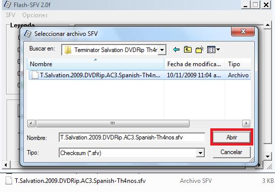 verificacion con sfv 3